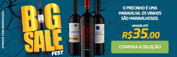 Vinhos Até R$35 (Big Sale Fest)
